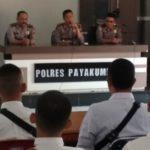 Tutup Kegiatan Binlat,Kabag Sumda ,22 Siswa dari Payakumbuh Siap Ikuti Tes di Polda Sumbar
