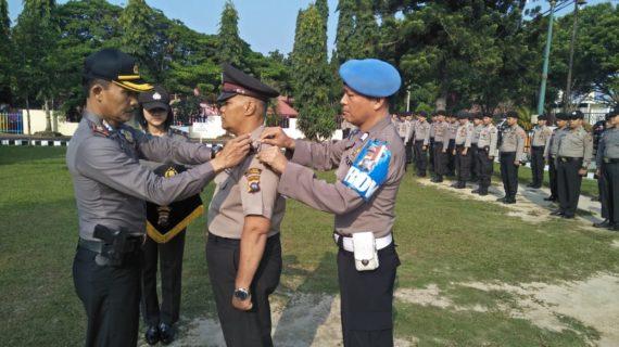 Waka Polres Kompol Eridal, Pimpin Upacara Kenaikan Pangkat