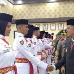 Wakil Walikota Payakumbuh Erwin Yunaz Kukuhkan 54 Anggota Paskibaraka 2019