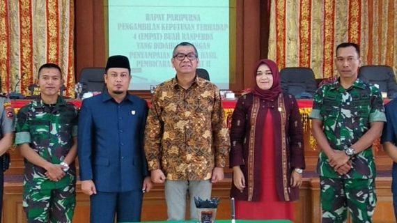 Langsungkan 2 Rapat Paripurna,DPRD Kota Payakumbuh Sahkan 3 Buah Ranpeda