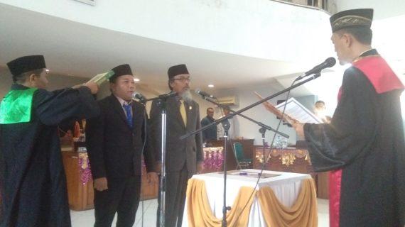 Dua Wakil Ketua DPRD  50 Kota Ucap Sumpah/Janji,Wedi Chandra, Kritikan Fitamin Bagi Anggota DPRD