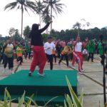 Wakil  Walikota dan Sekdako Senam Bersama Diobjek Wisata Batang Agam