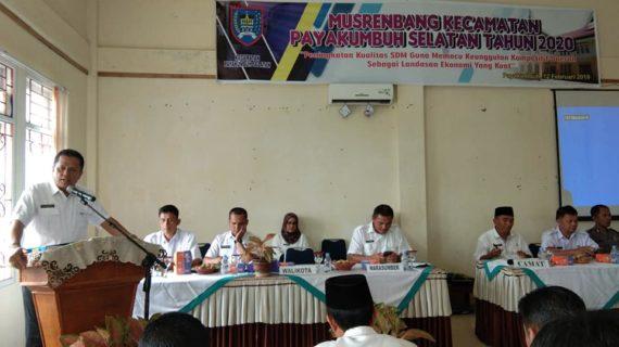 Musrembang, Pembangunan Infrastruktur  Primadona Usulan Masyarakat Kecamatan Payakumbuh Selatan